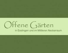 """Neuer Name für die Aktion """"Offene Gärten in Esslingen und Umgebung"""""""