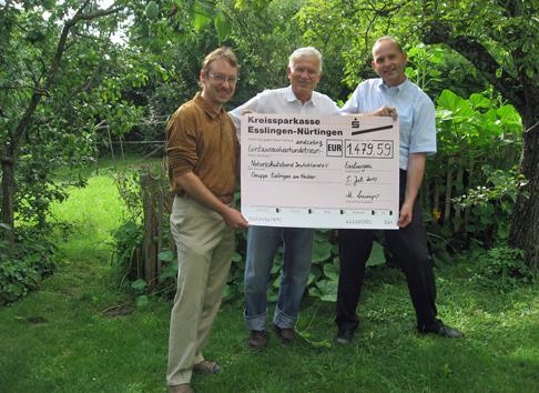 Offene Gärten 2010 - Spendenübergabe an Nabu