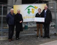 2.000 € für Familienherberge Lebensweg e.V.